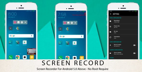 Screen Recorder - Android 5.0 Above - No Root Require v1.8