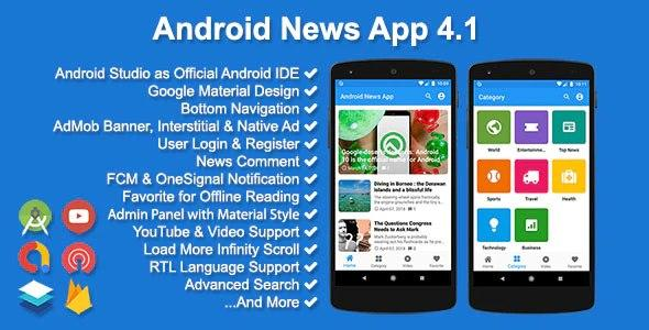 Android News App v4.1.0 Nulled