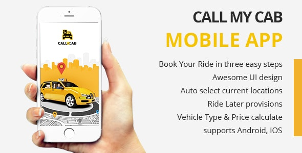 Online Taxi Booking App - Call My Cab Mobile App v2.6