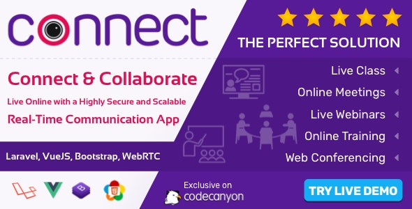 Connect - Live Video & Chat Messaging, Live Class, Meeting, Webinar, Conference, File Sharing v1.6.0