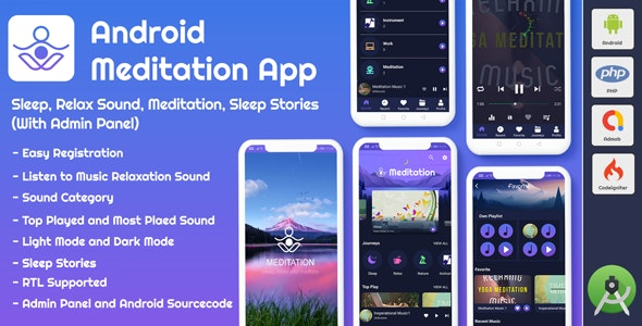 Android App Meditation & Relaxation Music with Admin Panel 18 September 20