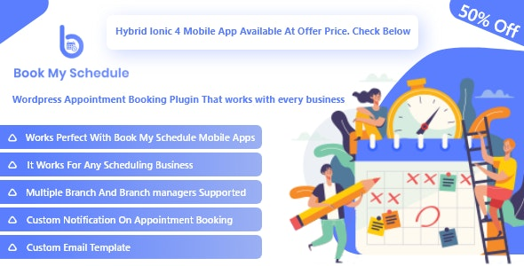 BookMySchedule - Appointment Booking and Scheduling Wordpress Plugin with Mobile Apps v1.0