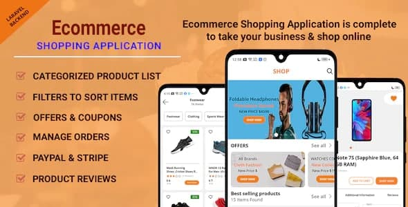 Ecommerce Shopping App - Take Your Shop Online With Android Application v1.0.6