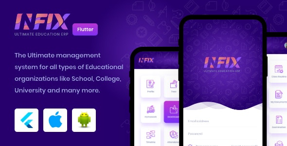 InfixEdu - Open Source Flutter for Android & iOS v1.0.3