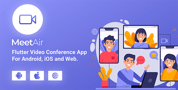 MeetAir - iOS and Android Video Conference App for Live Class, Meeting, Webinar, Online Training 3.0.0