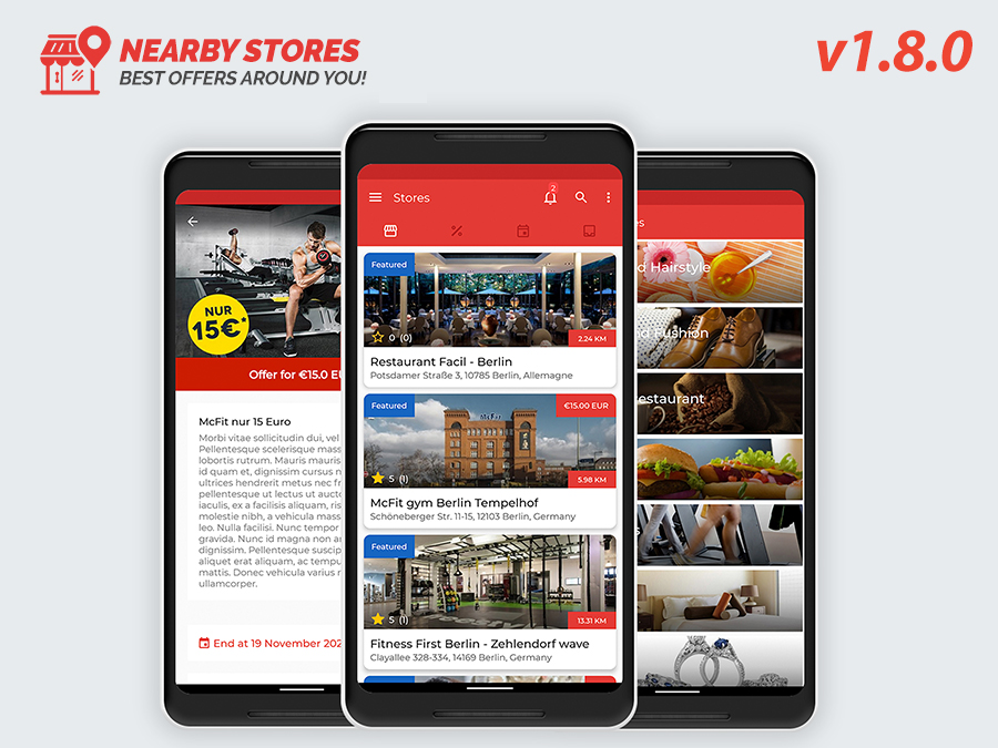 Nearby Stores Android - Offers, Events, Multi-Purpose, Restaurant, Market - Subscription & WEB Panel v2.1