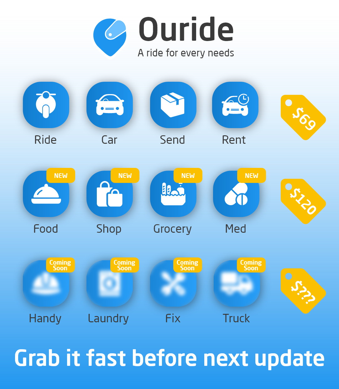 Ouride - the best delivery apps 2020-05-21
