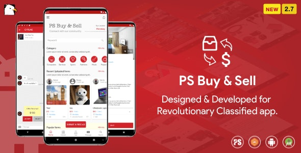 PS BuySell ( Olx, Mercari, Offerup, Carousell, Buy Sell ) Clone Classified App V : 2.9