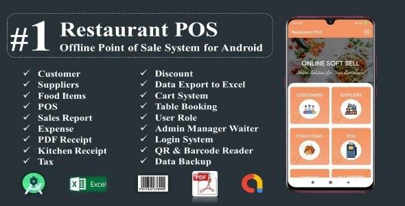 Restaurant POS-Offline Point of Sale System for Android v-1.0