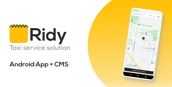 Ridy - Taxi Application Android + Dashboard v3.3.1