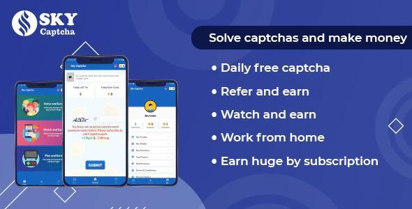 Sky Captcha Work - Make Money Online From Home By Captcha Work | Full Applications v1.1