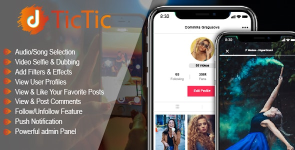 TicTic - Android Media App For Creating and Sharing Short Videos v2.9.6
