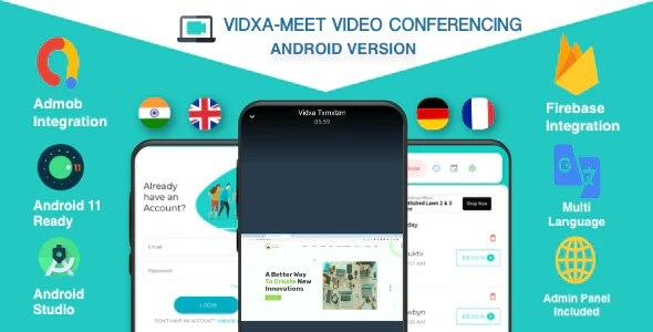 VIDXA MEET - Free Video Conferencing & Audio Conferencing App | Zoom Clone (Android + Admin Panel) v1.4