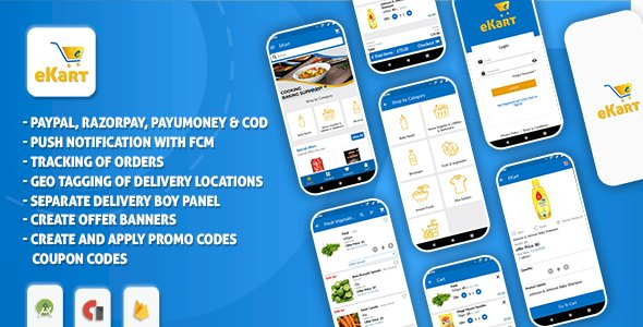 eCart - Grocery, Food Delivery, Fruits & Vegetable store, Full Android Ecommerce App v2.0.8.2