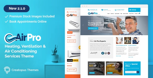 AirPro - Heating and Air conditioning WordPress Theme for Maintenance Services v2.6.6