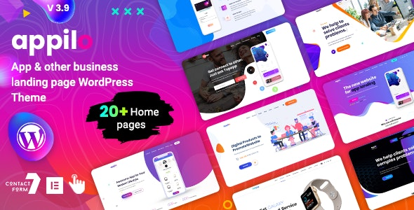 Appilo - App Landing Page WordPress Theme v5.1.2 Nulled