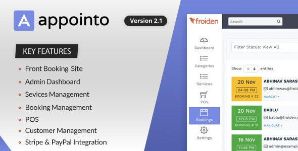 Appointo - Booking Management System V-2.2.5