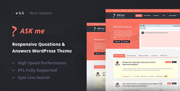 Ask Me - Responsive Questions & Answers WordPress v6.4.2 Nulled