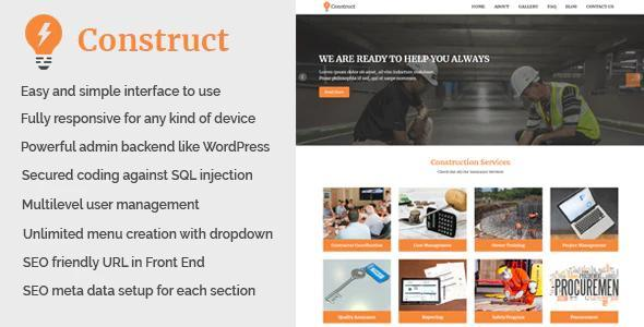 Construct - Building and Construction Website CMS v1.1