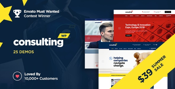 Consulting - Business, Finance WordPress Theme v5.2.3 Nulled