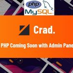 Crad - PHP Coming Soon with Admin Panel v1.0.1