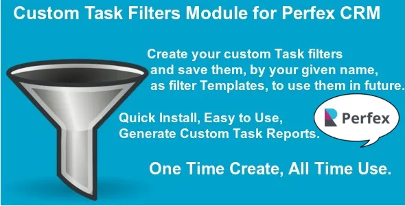 Custom Task Filters Module for Perfex CRM v1.0.1