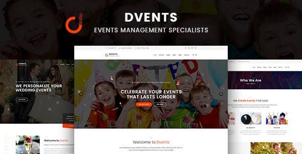 Dvents - Events Management Companies and Agencies WordPress Theme v1.1.6
