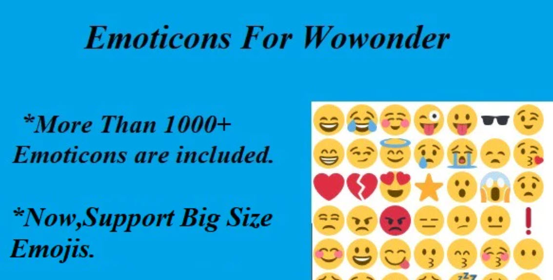 Emoticons For Wowonder 22 July 2020