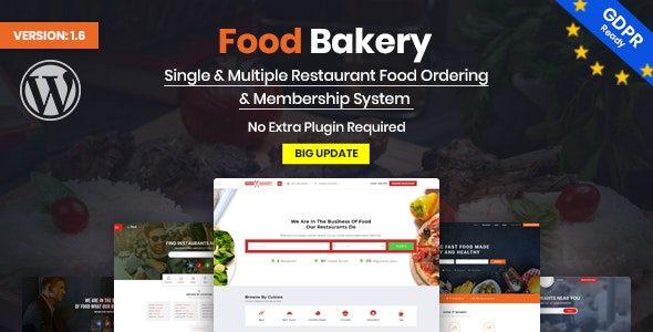 FoodBakery | Food Delivery Restaurant Directory WordPress Theme v2.1 Nulled