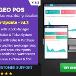 Geo POS - Point of Sale, Billing and Stock Manager Application v 6.1