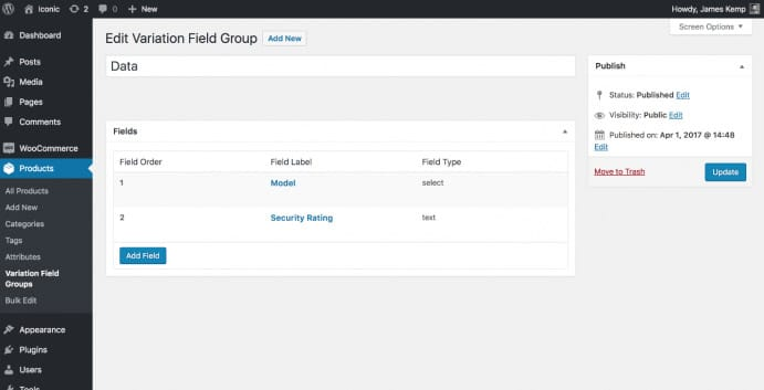 Iconic WooCommerce Custom Fields for Variations v1.2.4 Nulled