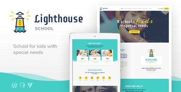 Lighthouse   School for Handicapped Kids with Special Needs WordPress Theme v1.2.2