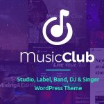 Music Club - Studio, Label, Band, DJ or Singer WordPress Theme v1.1.9 - 25 September 2020