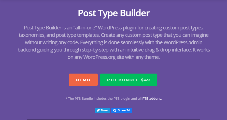PTB - Post Type Builder by THEMIFY + Addons 1.6.5