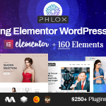 Phlox Pro - Elementor MultiPurpose WordPress Themes v5.5.7 Nulled