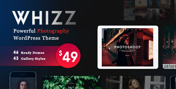 Photography Whizz   Photography WordPress for Photography v2.1.8