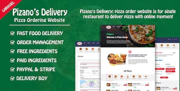 Pizano's Delivery: Unlimited pizza order website v1.0