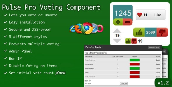 PulsePro Vote Component with Unvote Choice v1.2