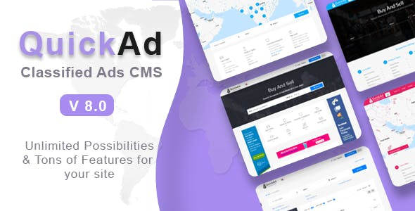 Quickad - Classified Ads CMS PHP Script V-9.2