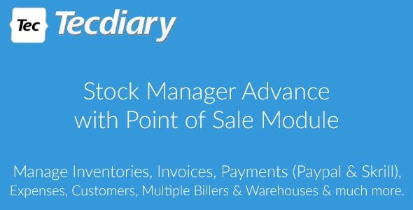 Stock Manager Advance with Point of Sale Module 19 October 20
