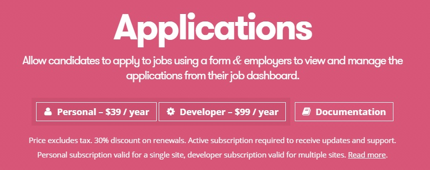 WP Job Manager Applications Add-on v2.5.0