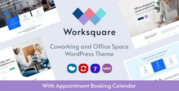 Worksquare - Coworking and Office Space WordPress Theme v1.2