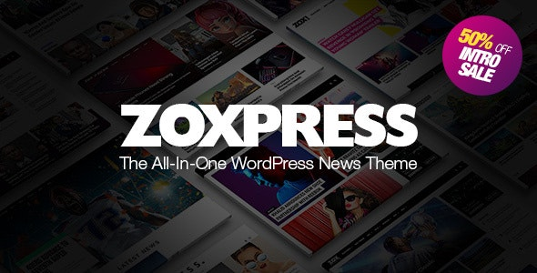 ZoxPress - All-In-One WordPress News Theme v2.01.0